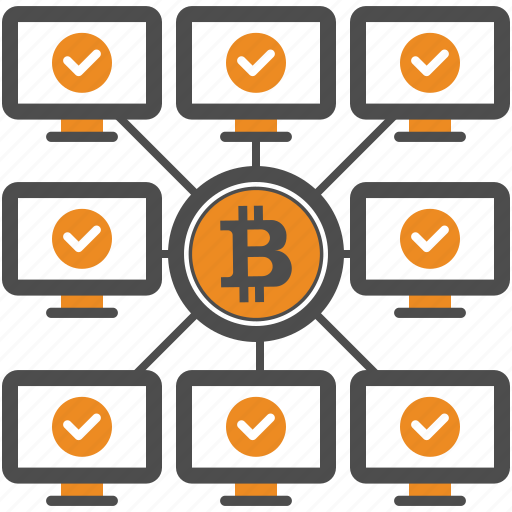 approval, authorization, bitcoin, bitcoins, blockchain, cryptocurrency, mining icon