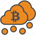 bitcoin, bitcoins, blockchain, cloud, cryptocurrency, mining