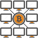 bitcoin, bitcoins, blockchain, cryptocurrency, mining, pc icon