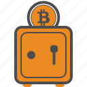 assurance, bitcoin, bitcoins, safe, security icon