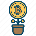 bitcoin, bitcoins, currency, money, saving icon