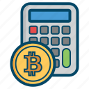 bitcoin, bitcoins, calc, currency, money icon