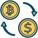 bitcoin, bitcoins, currency, dollar, exchange, money icon