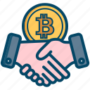 bitcoin, bitcoins, currency, deal, money icon