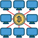 bitcoin, bitcoins, blockchain, cryptocurrency, mining icon