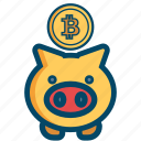 bill, bitcoin, bitcoins, cash, money, safe, saving icon