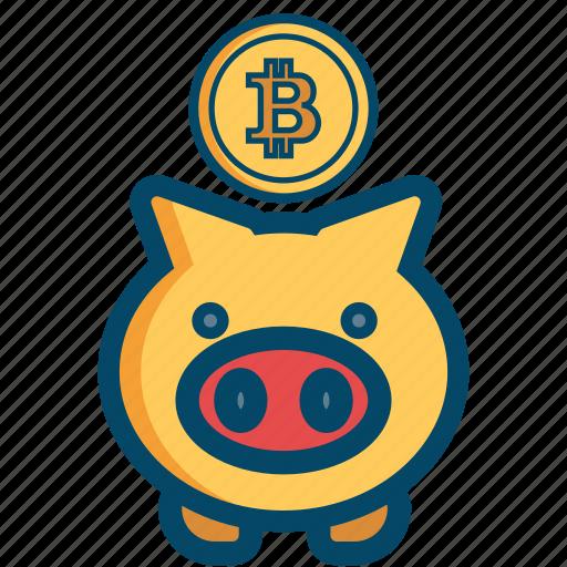bill, bitcoin, bitcoins, cash, money, safe, saving icon