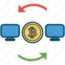 bill, bitcoin, bitcoins, cash, money, pc, transfer icon