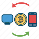 bill, bitcoin, bitcoins, cash, mobile, money, transfer icon