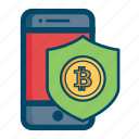 app, bitcoin, bitcoins, mobile, safe, security icon