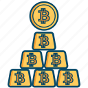 bill, bitcoin, bitcoins, cash, ingot, money icon