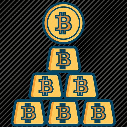 bill, bitcoin, bitcoins, cash, ingot, money icon