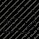 human, man, person, skull icon