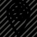 globe, gps, location, pin