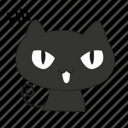 animals, cat, cute, greet, hi, pet icon