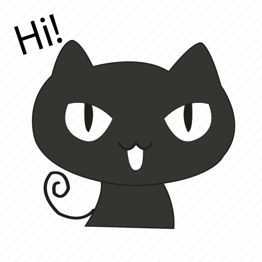 animals, cat, cute, greet, hi, pet icon