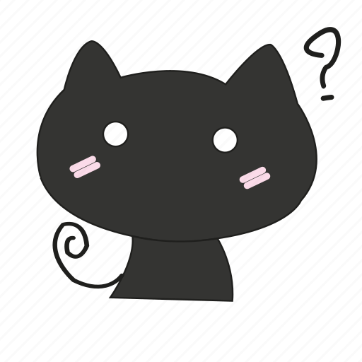 ask, cat, pet, shame, surprised, wild icon