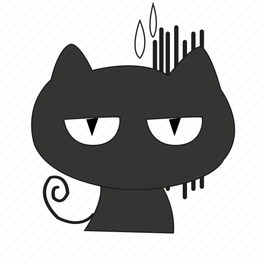 cat, disappointed, expression, face, frustrated icon