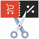cart, shopping, gift, promotion, discount, sale, voucher icon