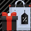 gift, shopping, box, price, tag, bag, sale
