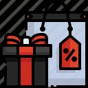 gift, tag, shopping, box, sale, bag, price