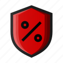 black friday, hot, promotion, protect, sale, shield, shopping icon