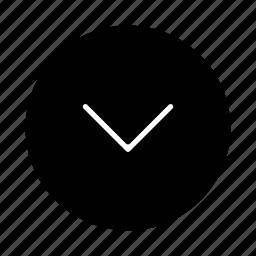 arrow, arrows, back, bottom, down, download, move icon
