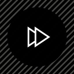 arrow, arrows, direction, fast, forward, navigation, play icon