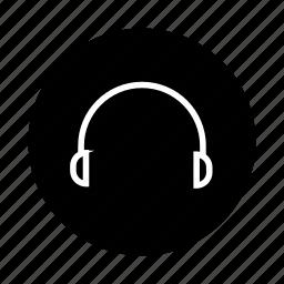audio, earphone, earphones, headphone, headphones, headset, listen icon
