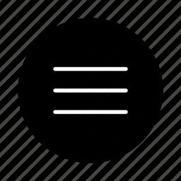 document, file, list, menu, page, paper, sheet icon