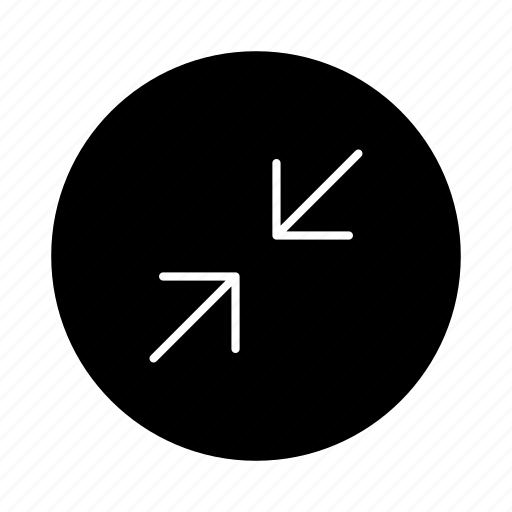 arrow, arrows, down, download, minimize, navigation, resize icon