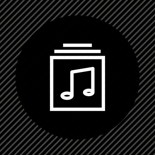 album, document, documents, folder, music, note, sound icon