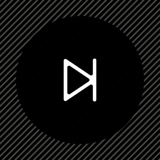 arrow, forward, multimedia, next, player, song, sound icon