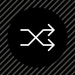 multimedia, music, play, player, randomize, shuffle, sound icon