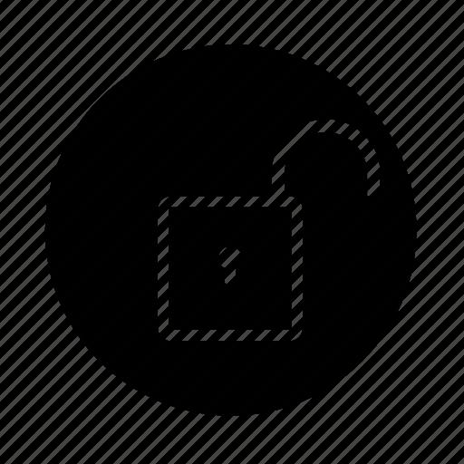 auth, lock, locker, login, logout, round, secure, unlock, web icon