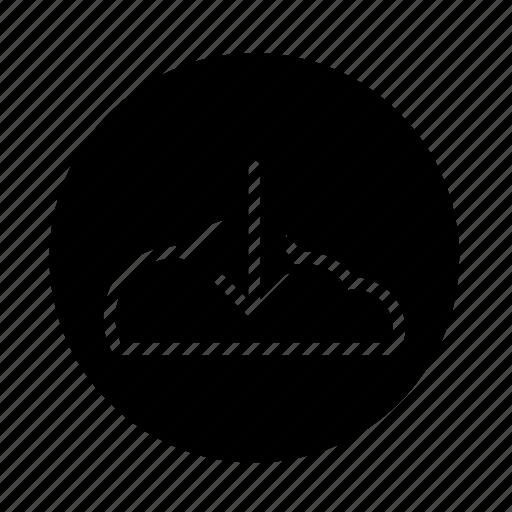 arrow, button, cloud, cloud download, download, web icon