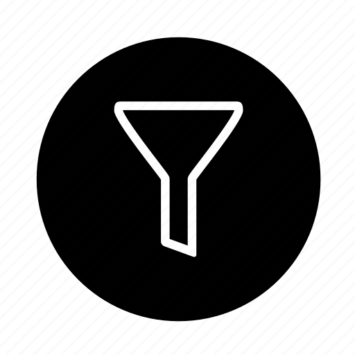 button, filter, web icon