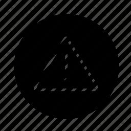 attention, round, triangle, web icon