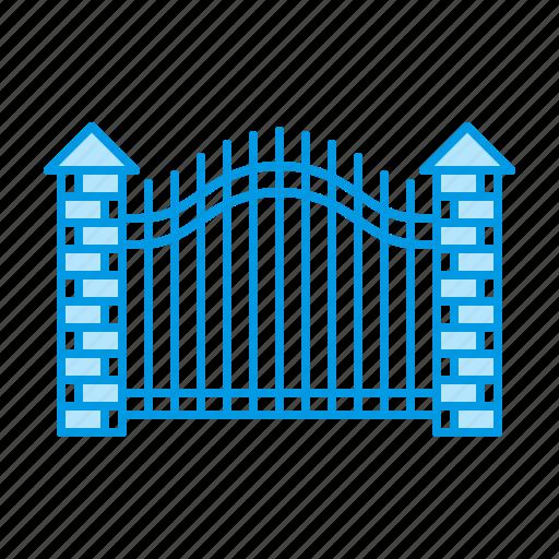 fence, gate, gateway, metal icon