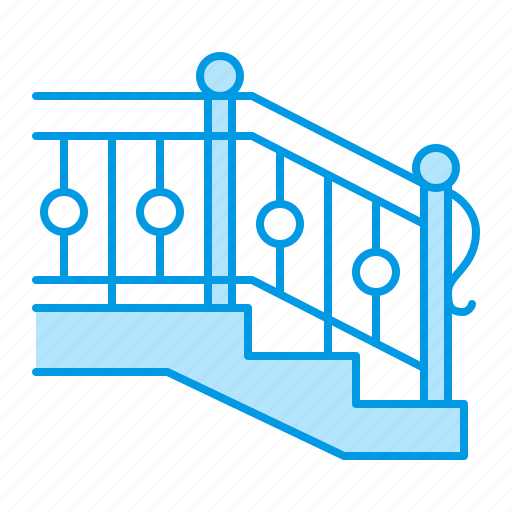 blacksmith, metal, railing, stairs icon