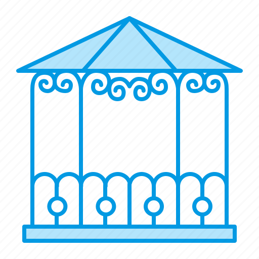 blacksmith, garden, metal, pavilion icon