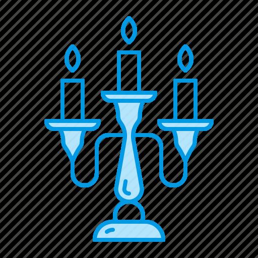 antique, blacksmith, candlestick, sconce icon