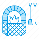 blacksmith, fireplace, grilles icon