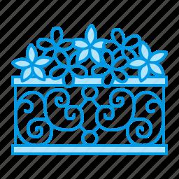 blacksmith, flowers, garden, metal icon
