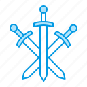 blacksmith, metal, swords, weapons icon
