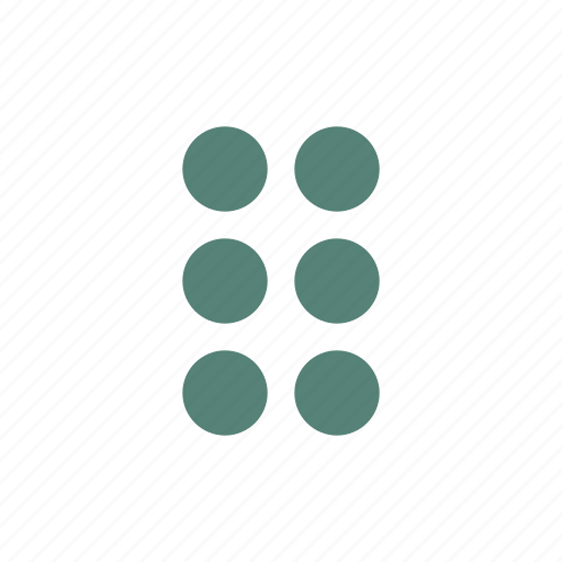 blind, braille, dots, visually impaired icon