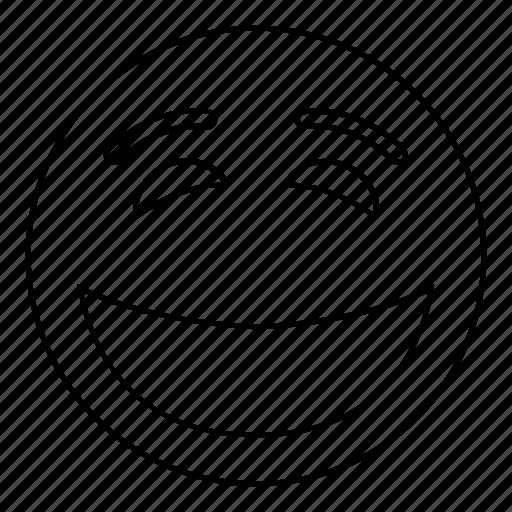 emoji, emoticon, face, feeling, happy, smiley icon