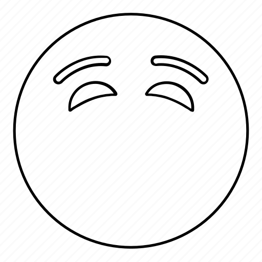 blank, emoji, emoticon, face, smiley icon
