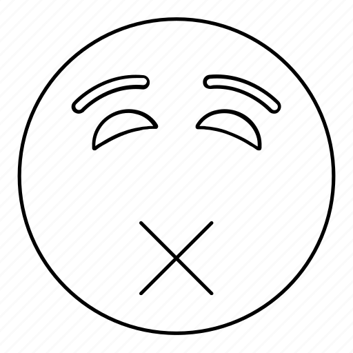 emoji, emoticon, face, mute, puke, sick, smiley icon