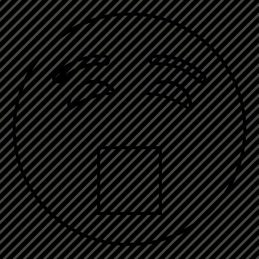 Emoji, emoticon, face, scream, smiley, yell icon - Download on Iconfinder